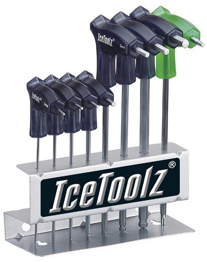 Набор ключей ICE TOOLZ 7M85 шестигранников д/мастер. 2x2.5x3x4x5x6x8 мм, с рукоятками и закругленным концом