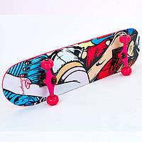 Скейтборд розовый SK-5615