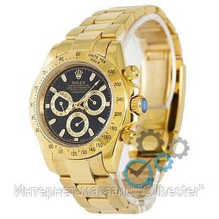 Часы мужские Rolex Daytona AAA механические золотисто-черные