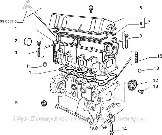 Прокладка клапанной крышки Fiat Doblo 1.2 8V (2000-2005