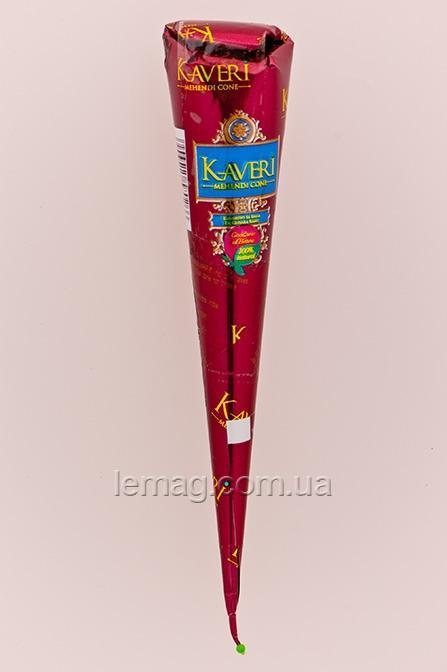 Golecha Kaveri Хна для росписи тела в конусе - Коричневая натуральная, 25 г
