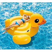 """56286 Плотик Утка"""" 221*221*109см, Плот взрослый для плавания, Надувная игрушка, Надувная утка для воды, фото 1"""