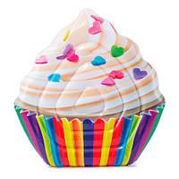 """58770 Матрас-плот Cupcake"""" 142*135см, Надувной плот в форме капкейка, Надувной матрас для плавания"""