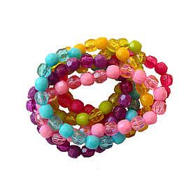Набор браслетов для девочки, 6 штук