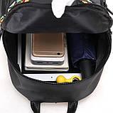 Черный нейлоновый рюкзак с орнаментом, фото 4