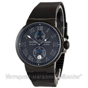 Элитные мужские часы Maxi Marine Chronometer All Black