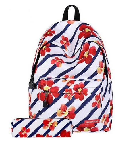Рюкзак с принтом цветов