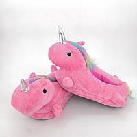 Женские тапочки игрушки розовые Единороги