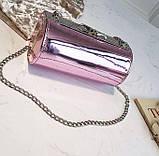 Розовая лаковая сумка кроссбоди, фото 2