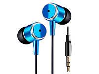 Вакуумні навушники JMF 3,5 мм з поліпшеним звучанням басів для Samsung S5 S4 S3 Note4 Xiaomi HUAWEI MP3  Синій