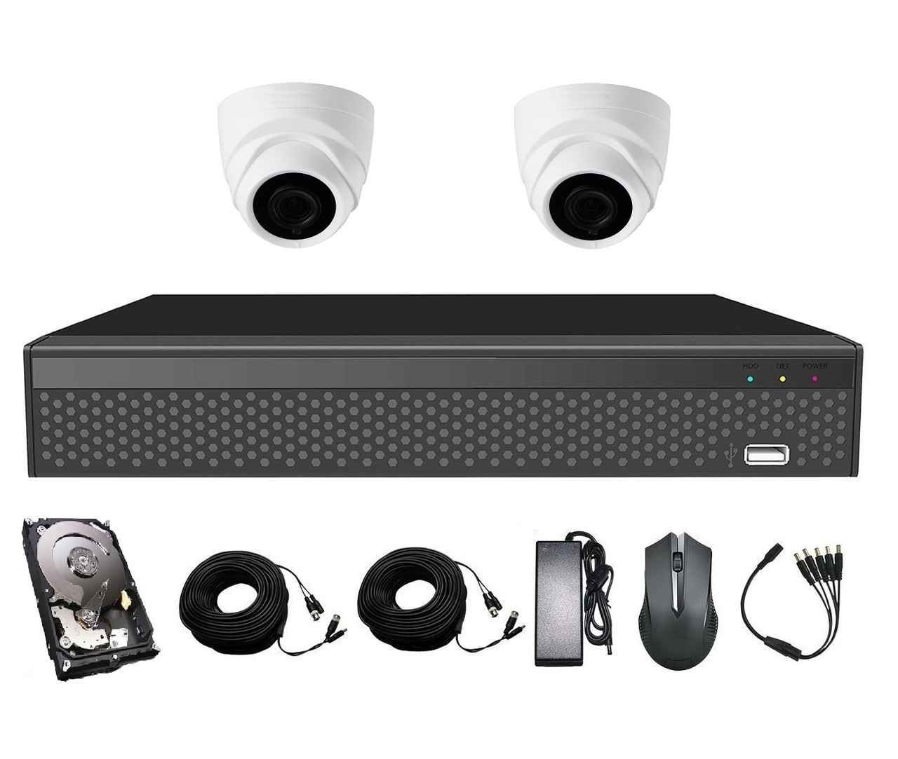 Комплект видеонаблюдения CoVi Security AHD-2D 5MP MasterKit + HDD500