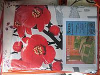 Постельное белье двуспальное GOLD - красные цветы