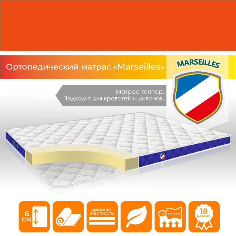 """Матрас-топпер ортопедический """"Marseilles"""" р. 160х190 см средней жесткости на кровать/диван (h 6 см)"""