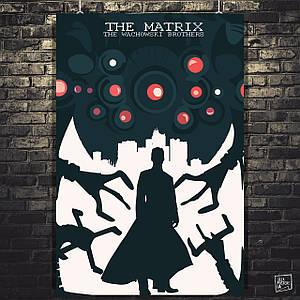 Постер Матрица, Matrix, Нео, рисунок. Размер 60x39см (A2). Глянцевая бумага