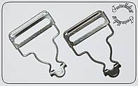 Застежка для комбинезона 33мм никель и темный никель