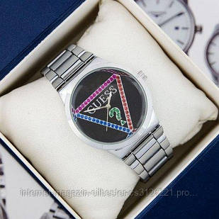 Часы женские Guess 7156 Silver-Black