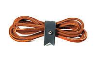 Шнурки кожаные 3,5*1000мм (рыжий)