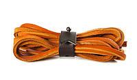 Шнурки кожаные 3,5*1000мм (оранжевый)