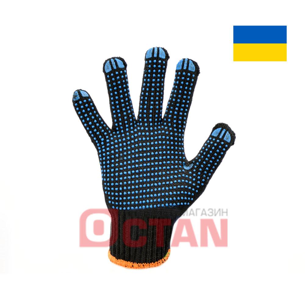 Перчатки рабочие х/б с ПВХ точкой VT8711