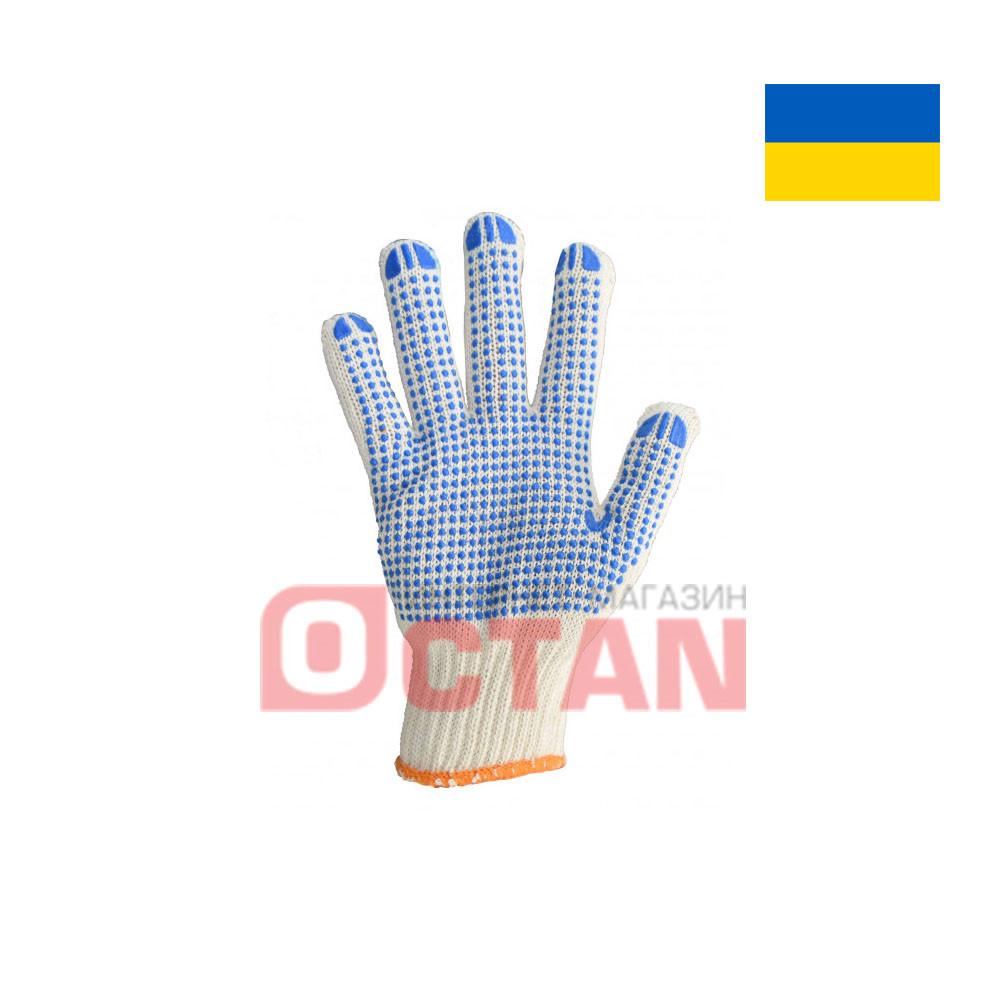Перчатки рабочие х/б с ПВХ точкой VT8710