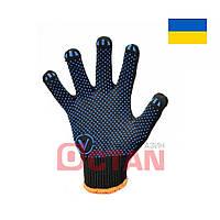 Перчатки рабочие Х/Б с ПВХ точкой VT 8411