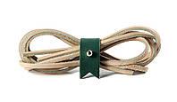 Шнурки кожаные 3,5*1000мм (светло-бежевый)  , фото 1