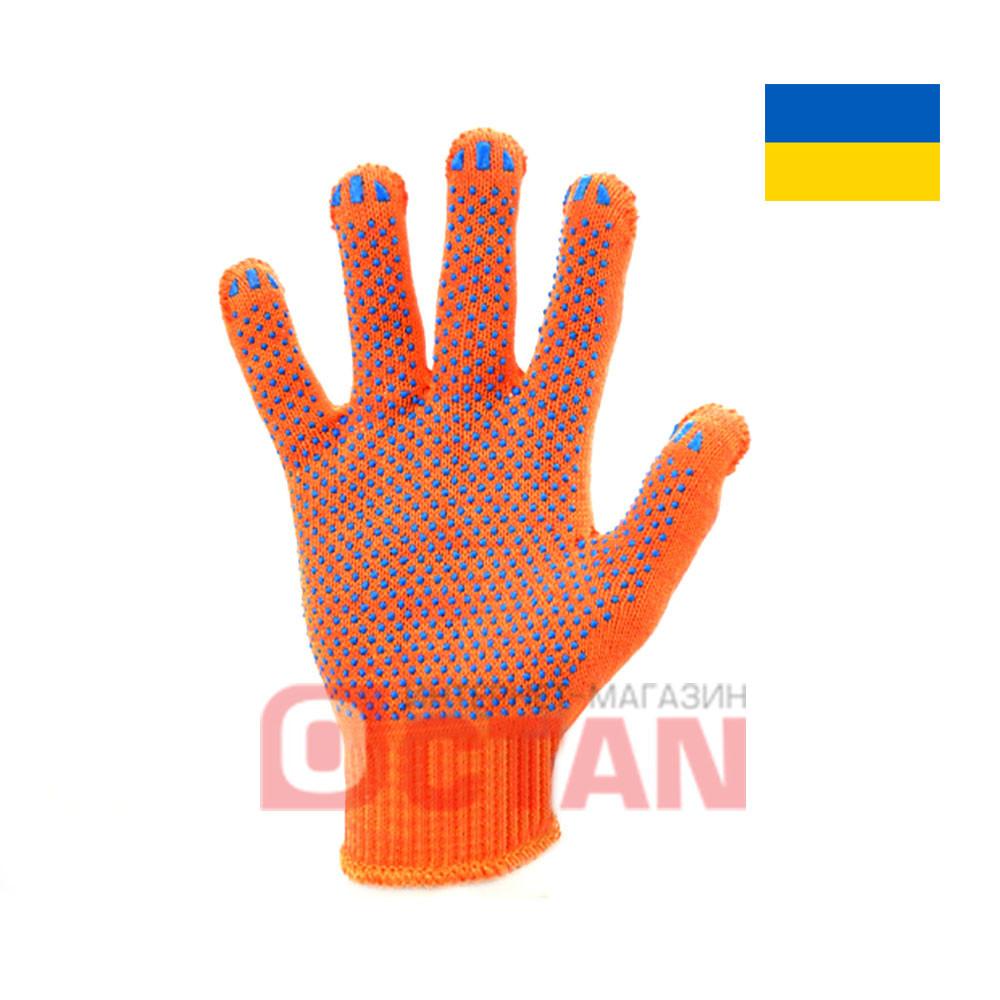 Перчатки рабочие х/б с ПВХ точкой VT8312