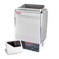 Keya Sauna Электрокаменка Amazon AM90MI 9 кВт с выносным пультом CON4 (нерж. сталь)