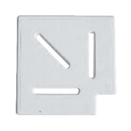 Aquaviva Угловой элемент AquaViva Classic и Grift для переливной решетки 90° 245/25 мм  (белый)