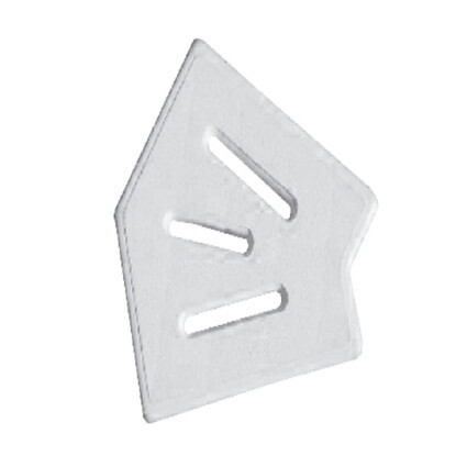 Aquaviva Угловой элемент AquaViva Classic и Grift для переливной решетки 45° 245/25 мм (белый)