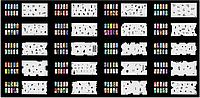 Набор трафаретов 20 шт. для nail art №9, фото 1
