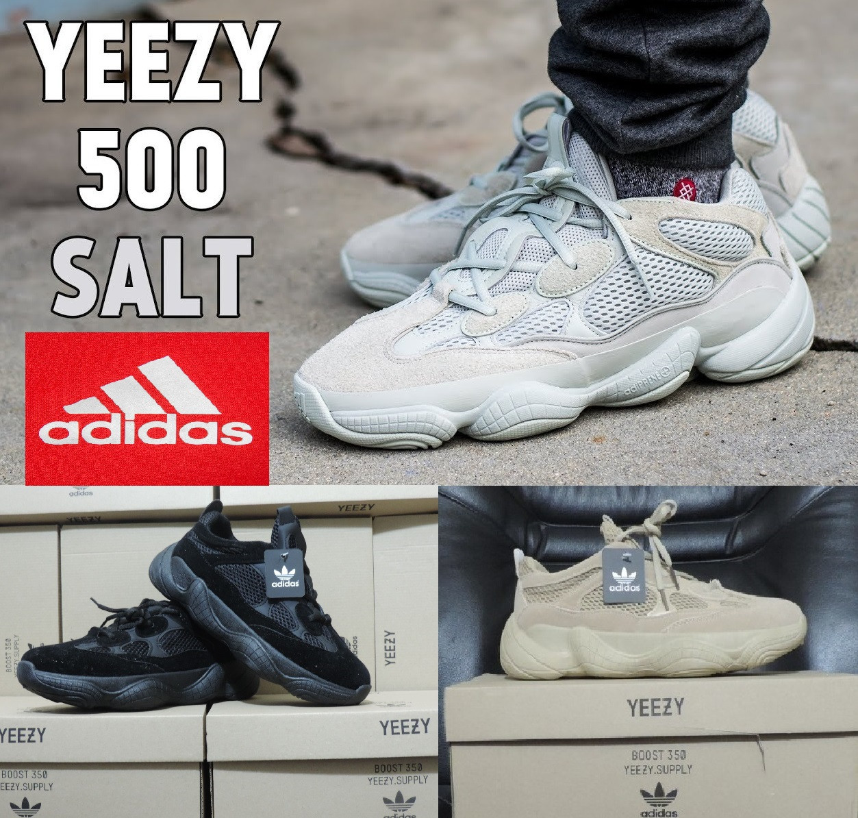 reputable site 4338f 3db85 Мужские кроссовки Adidas Yeezy Boost 500 Salt. Реплика. Производство  Вьетнам.