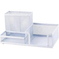 Подставка для офисных принадлежностей металлическая Axent, белая (2116-21-A)