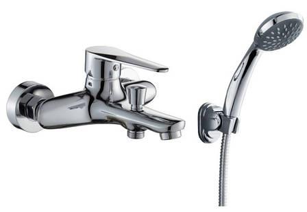TULIP смеситель для ванны однорычажный, хром 35 мм, фото 2
