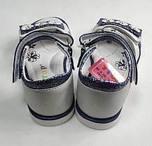Детские босоножки сандалии сандали для девочки синяя ромашка y.top 28р, фото 3