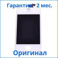 Оригинальный дисплей APPLE IPHONE 4 + Сенсор (тачскрин) / Экран на Айфон 4 белый (LCD Original), Оригінальний дисплей iPhone 4 білий (LCD екран,