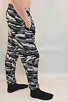 Брюки спортивные мужские трикотажные под манжет - городской камуфляж - М, фото 3