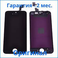Original дисплей APPLE IPHONE 5S + Сенсор (тачскрин) / Экран на Айфон 5S черный (LCD Original), Original дисплей iPhone 5S чорний (LCD екран,