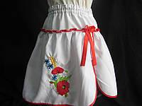 Белая юбка детская с вышивкой, 2-14 лет, 140/115 (цена за 1 шт. + 25 гр.), фото 1