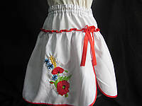 Белая юбка детская с вышивкой, 2-14 лет, 140/115 (цена за 1 шт. + 25 гр.)
