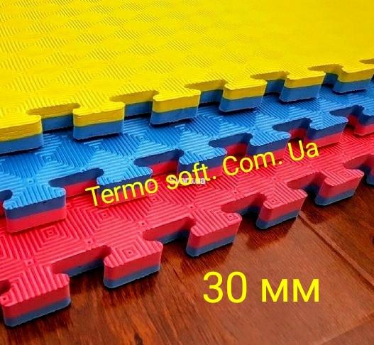 """Модульное напольное покрытие для спортивных залов ТАТАМИ """" Ласточкин хвост"""" 30 мм."""