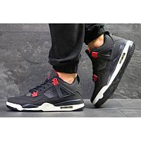 22d8a29dd Мужские кроссовки Nike Air Jordan 4 Retro темно-синие с красным р.42 Акция