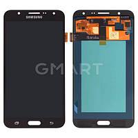 Дисплей Samsung J700F/DS Galaxy J7 черный (LCD экран, тачскрин, стекло в сборе), Дисплей Samsung J700F / DS Galaxy J7 чорний (LCD екран, тачскрін,