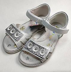 Детские босоножки сандалии сандали для девочки серебристые ромашка y.top 28р 18 см