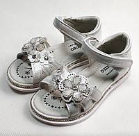 Детские босоножки сандалии сандали для девочки белые ромашка w.niko 28р