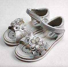 Детские босоножки сандалии сандали для девочки белые ромашка w.niko 28р 17см
