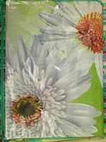 Постельное белье семейное - белые цветы