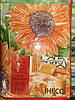Постельное белье семейное оранжевые цветы