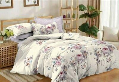 """Комплект постельного белья євро """"Весенние Цветы"""""""