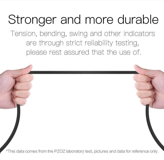 Магнитный кабель Micro USB PZOZ с угловым подключением для зарядки и передачи данных Черный 1м